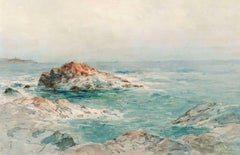 Low Tide, Indian Rock, Narragansett by Alfred T. Bricher (1837-1908, American)