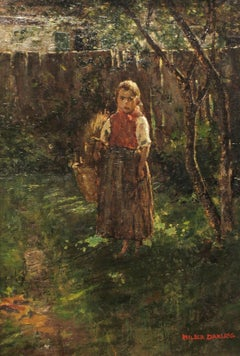 Wood Gathering, 19th-century painting by Wilder Darling (1855[?]-1933, American)