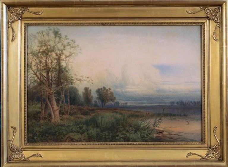 Montezuma Marsh, 1872 Hudson River School landscape by William Hart (1823–1894) For Sale 1