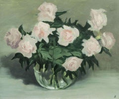 Roses in a Bowl, Still Life by John H. B. Knowlton (1914 - 2013, American)
