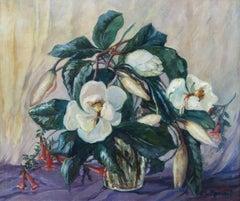 Magnolias, Floral Still Life by Clara Lotte Von Marcard-Cucuel (c. 1915-1955)