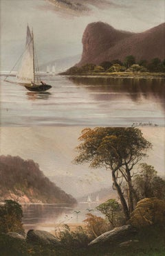 Pair of Hudson Highland Views by John Martini, Jr. (Fl. 1890's, American)