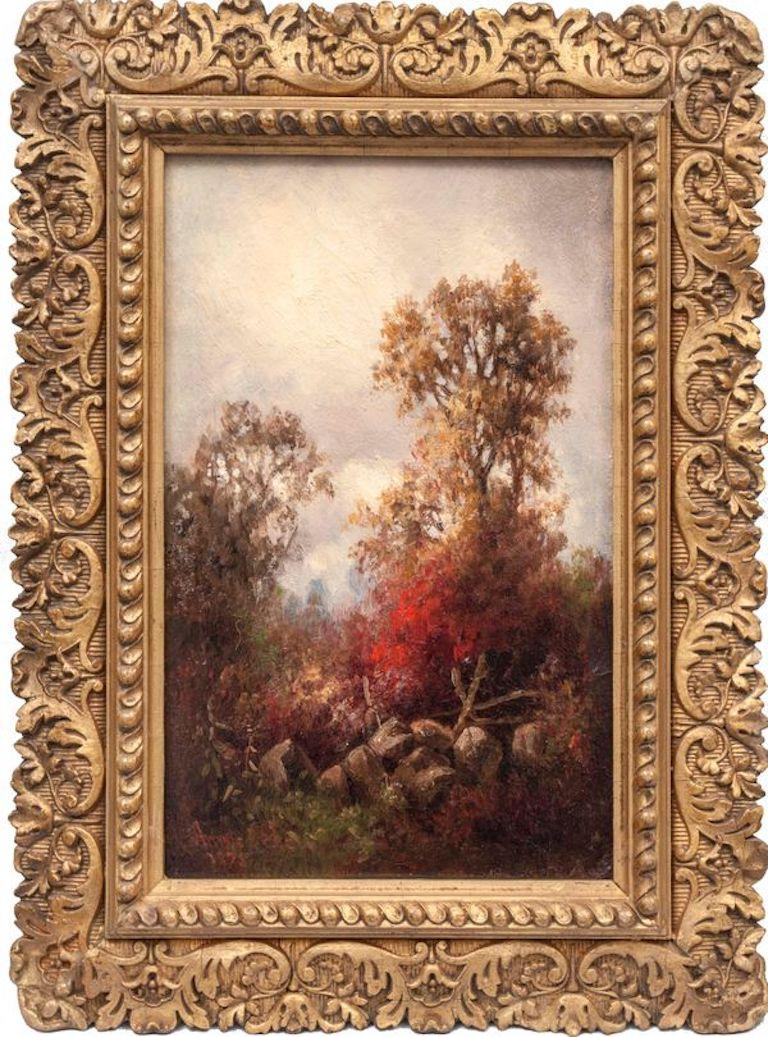 Pair of Hudson River Landscapes by Annie Cornelia Shaw (1852-1887, American) For Sale 5