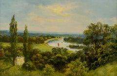 View from Richmond Hill, landscape by John Hardwicke Lewis (1842-1927)