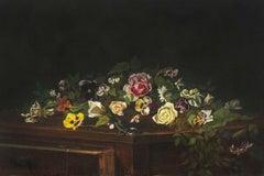 Tabletop Bouquet, 1888, Floral Still Life by Minnie Rankin Wyman (1871-1963)