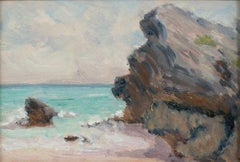 Bermuda Beach with Rocky Cliff, Clark Greenwood Voorhees (1871-1933, American)