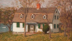 White House Green Shutters by Clark Greenwood Voorhees (1871-1933, American)