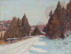 Berkshires in Winter, Landscape, Clark Greenwood Voorhees (1871-1933, American)