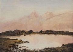 Milky Lake, Alps by Gustavus Frankenstein (1827-1893, German American)