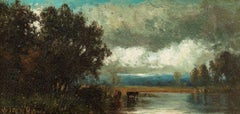 After the Storm, Landscape by Julie Hart Beers (1835-1913, American)