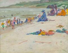 Beach Scene by American Impressionist Jane Peterson (1876-1965, American)