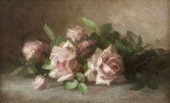 Still Life of Roses by Anna Eliza Hardy (1839-1934, American)
