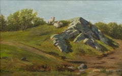 At Pasture, Landscape by Rebekah T. Furness (1854-1937, American)