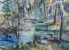 Spanish Moss, Lowcountry Swamp by Virginia Fouché Bolton (1929-2004, American)
