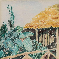 Thatch House Hawaii by Mary Fleener (20th Century, American)