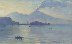 Naples, View of Mt. Vesuvius by Frank Townsend Hutchens (1869-1937, American)