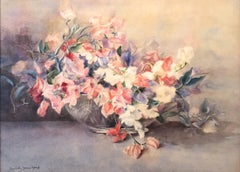 Sweetpeas, Still Life by Emma Collin Sears Marsh (1871-1960, American)