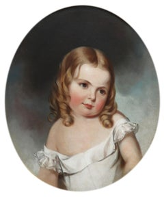 Portrait of Ellie Kendall, Age 2 1/2 Years, Jane Cooper Sully Darley (1807-1877)