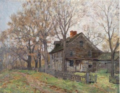 Farmhouse in Old Lyme, CT by Clark Greenwood Voorhees (1871-1933, American)