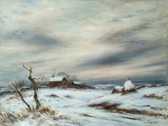 Coming Home, a winter landscape by Eliot Candee Clark (1883-1980, American)