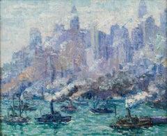 Activity: Lower Manhattan, New York City by Hortense Tanenbaum Ferne (1889-1976)