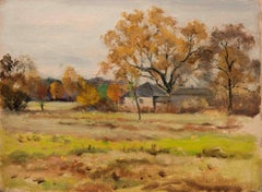 Autumn Meadow, a landscape painting by Max Gundlach (1863‒1957, American)