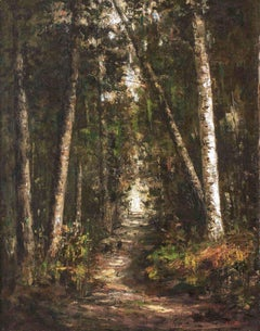 Forest Path, a landscape painting by Helen Mary Knowlton (1832-1918, American)