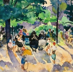 Filtered Sun, Luxembourg Gardens by Martha Walter (1875-1976, American)