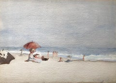 Beach Scene at Coney Island, 1905, by Miss. M.J. Whaley (1871-1938, American)