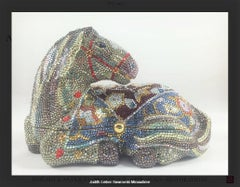 Swarovski Crystal Decorated Festive Horse Minaudiere