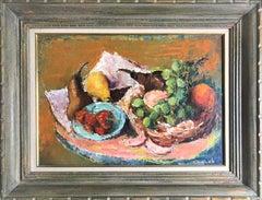 Gustav Likan Pears and Grapes 1964