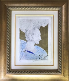 Surrealist Portrait Drawings and Watercolours