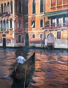 Bartolome Sastre Venice Canal Scene
