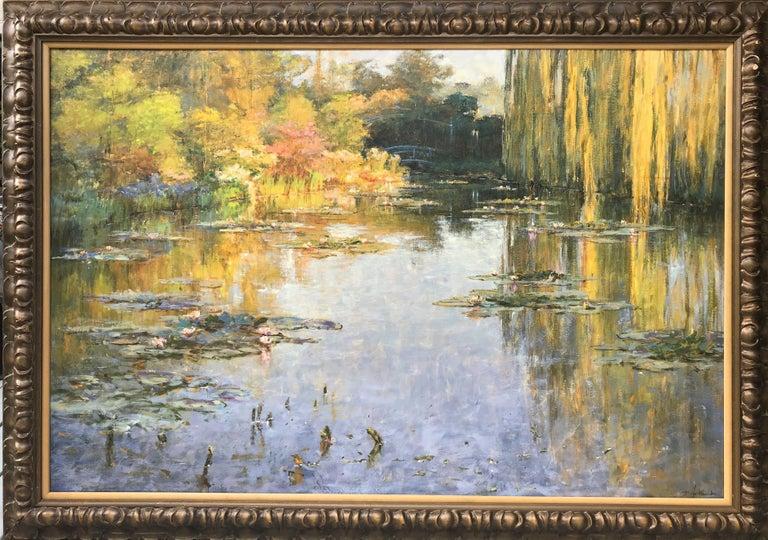 Borja Fernandez Primavera Giverny - Impressionist Painting by Borja Fernandez