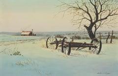 Untitled, Winter Cabin Snowscape