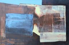 Blue, Metallic, & Yellow Abstract