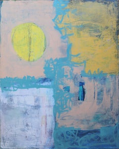 Untitled Abstract with Yellow Sun