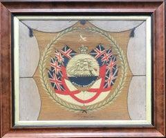 """19th Century British Woolie """"Dieu Et Mon Droit"""""""