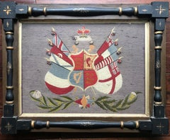 19th Century Royal Standard Coat of Arms Woolie