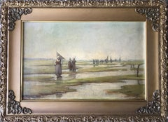 Landscape by the Shore with Figures Walking