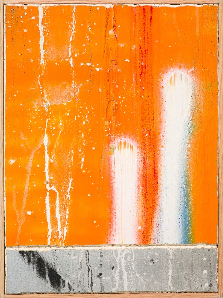 """Untitled F"" - Painting by artist Tilt - Orange Abstract Painting by Tilt"