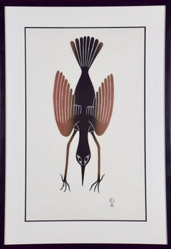 Shore Bird's Descent, Inuit Art by Kenojuak Ashevak