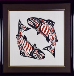 "Inuit Stonecut Engraving entitled ""Ritual"""