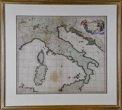 17th Century Dutch Map of Italy, Sicily, Sardinia, Corsica and Dalmatian Coast