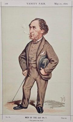 "Vanity Fair Caricature, Sir Joseph Hawley, ""The Purist of the Turf"", Racehorses"