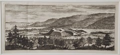 "An Antique Engraved View of ""Romelborg"", Sweden in the 17th C. by Erik Dahlberg"