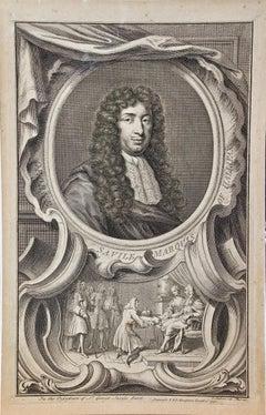 18th Century Portrait of George Savile, Marquis of Halifax by Houbraken