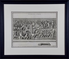 "Engraving ""Attaque avec le Belier"" (Attack with a Battering Ram) by Montfaucon"
