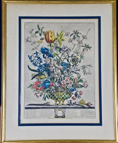 """""""February Bouquet"""" from 'The Twelve Months of Flowers' series by Robert Furber"""