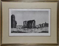 'Description De L'Égypte' Engraving of Tomb & Statue of Ramses II (Ozymandias)